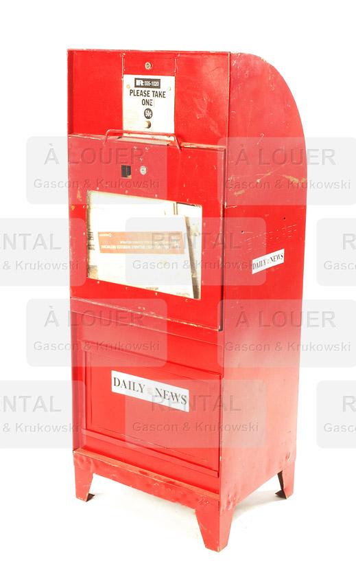Distributrice / boite à journaux métal rouge
