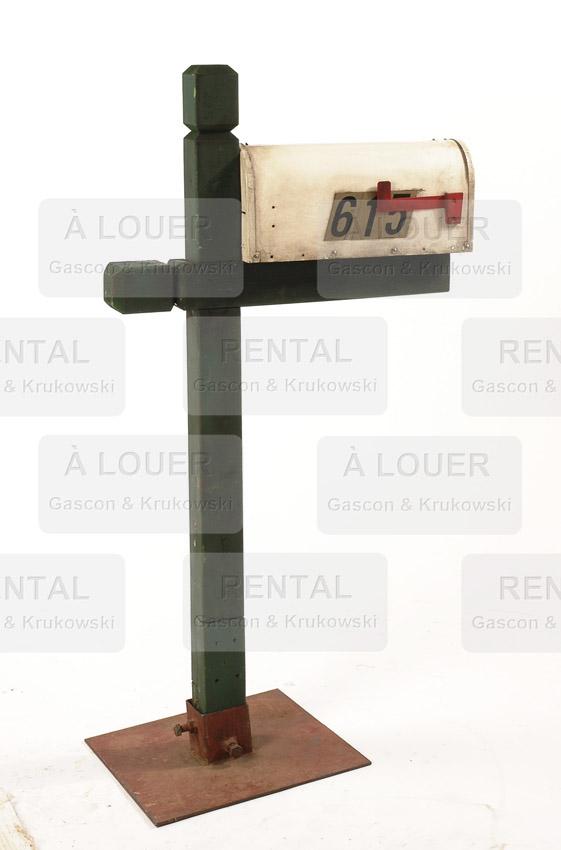 Boîte aux lettres résidentielle rurale, métal blanc (repeinte bleu poudre)