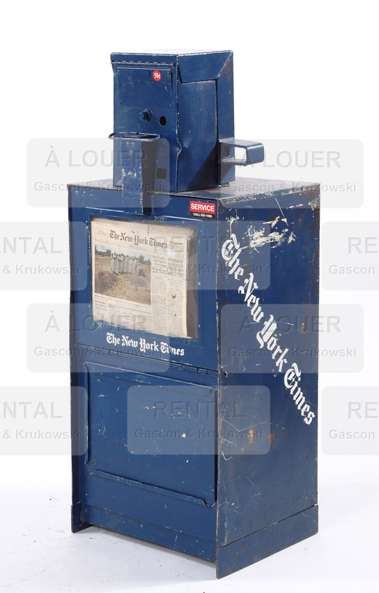 Boîte distributrice à journaux NEW YORK Times métal bleu