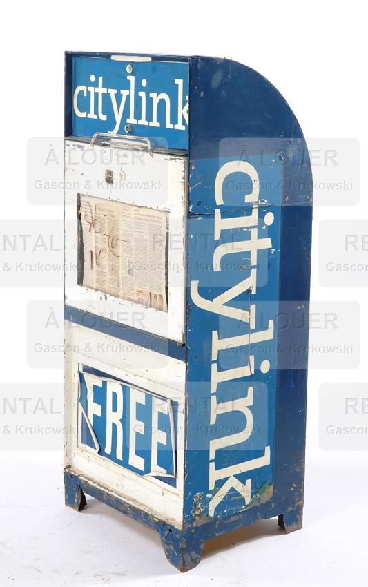 Distributrice / boîte à journaux Citylink métal bleu