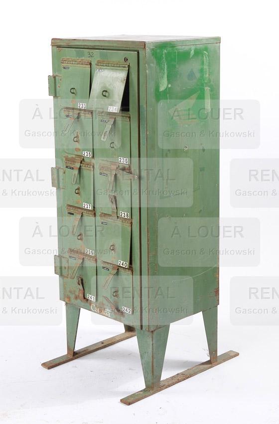 Boîte aux lettres métal vert