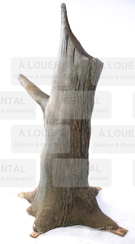 Souche de bois, reproduction d'un tronc d'arbre