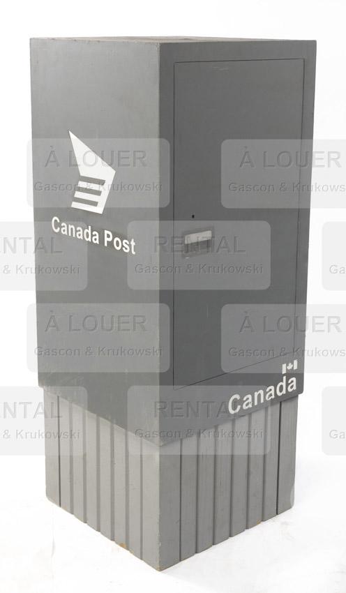 Boîte postale de relais de facteur, Poste Canada, grise