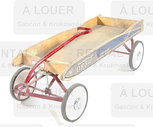 chariot tra neau d enfant orbit en bois gascon. Black Bedroom Furniture Sets. Home Design Ideas