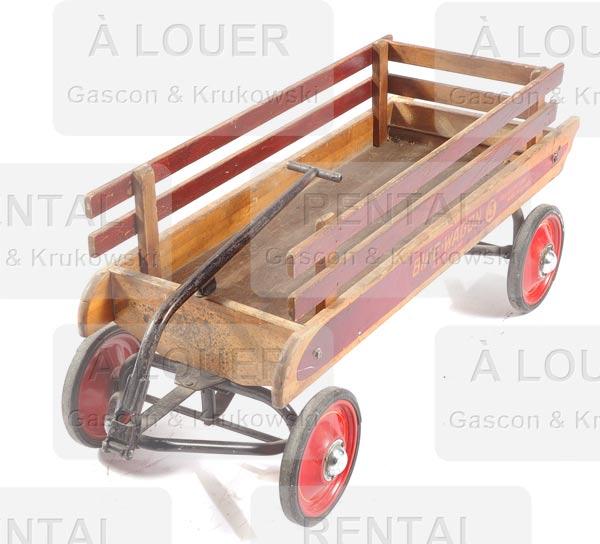 chariot tra neau d enfant en bois avec barri re. Black Bedroom Furniture Sets. Home Design Ideas