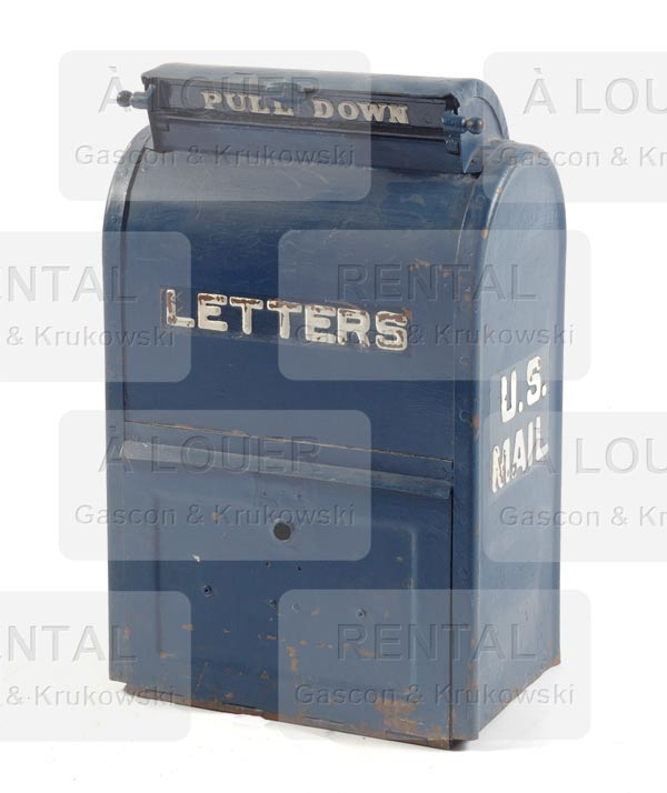 Boîte aux lettres, métal bleu