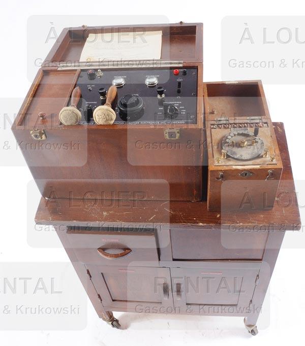 meuble boite de transport pour machine lectrochocs. Black Bedroom Furniture Sets. Home Design Ideas