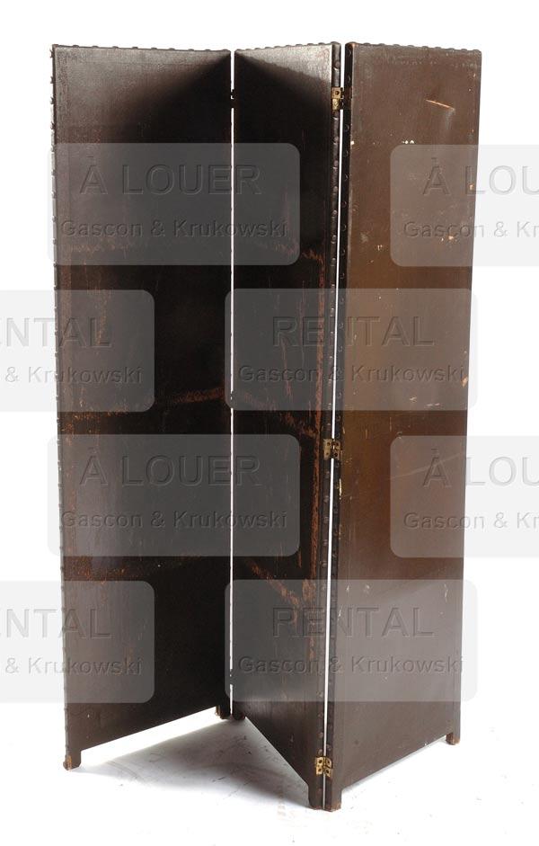 Paravent brun, 3 panneaux