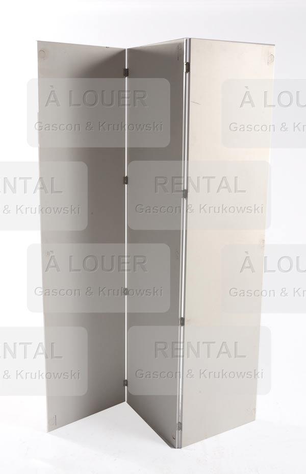 Paravent blanc, 3 panneaux