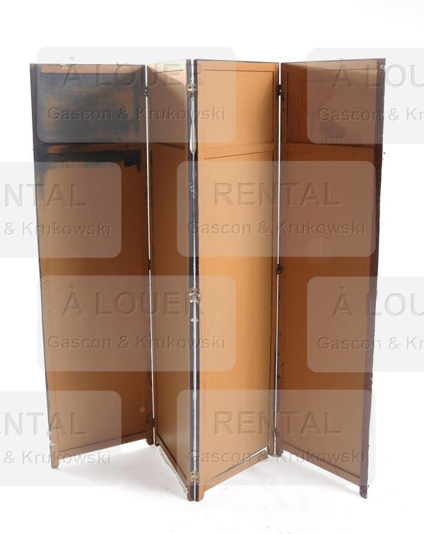 paravent beige us 4 panneaux gascon krukowski. Black Bedroom Furniture Sets. Home Design Ideas