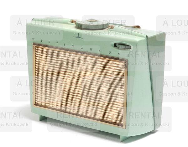 Radio WESTINGHOUSE vert et doré
