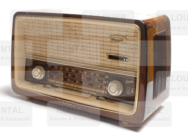 Radio, beige + brun POLKA