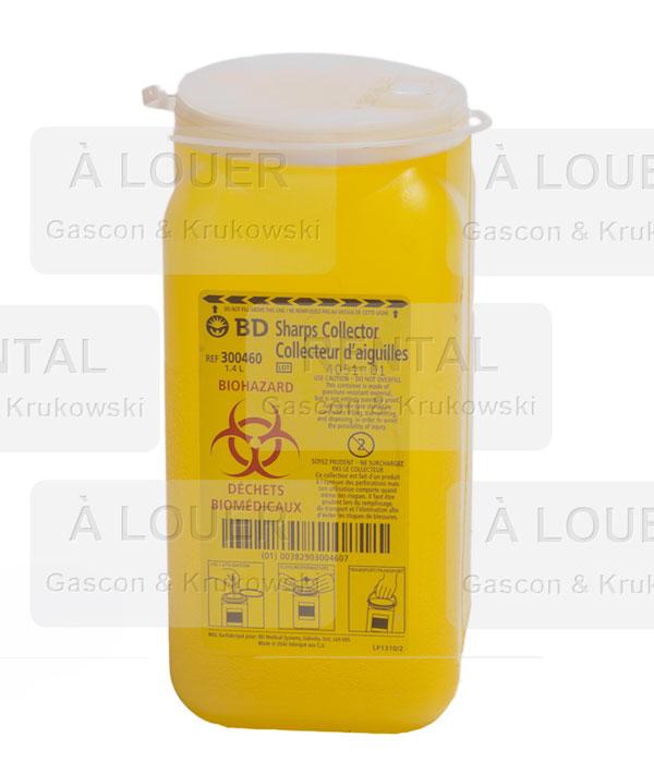 Bac / boîte biohazard