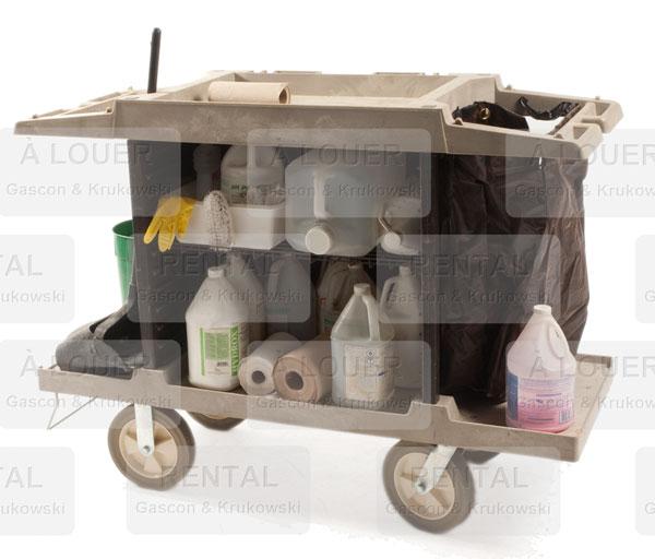 Chariot de ménage Rubbermaid