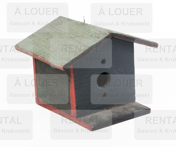 Cabane à oiseau, bois gris